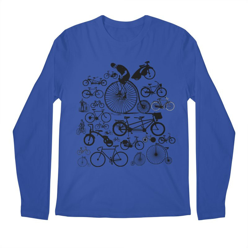 Bicycles Men's Regular Longsleeve T-Shirt by Mrc's Artist Shop