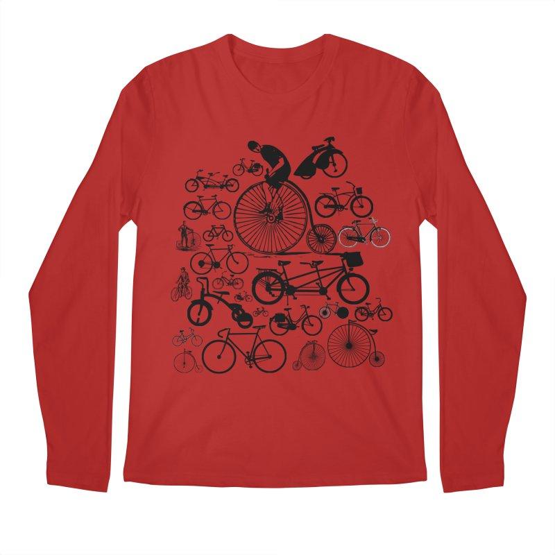 Bicycles Men's Longsleeve T-Shirt by Mrc's Artist Shop