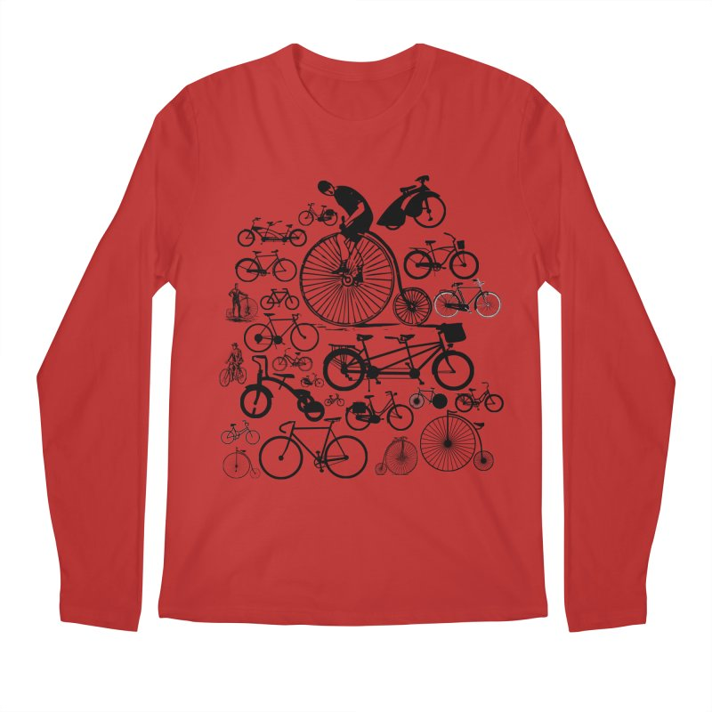 Bicycles Men's Longsleeve T-Shirt by Mrc's Artist Shop