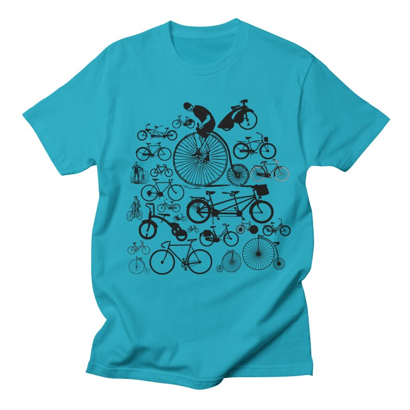 Bicycles in Men's T-shirt Cyan by Mrc's Artist Shop