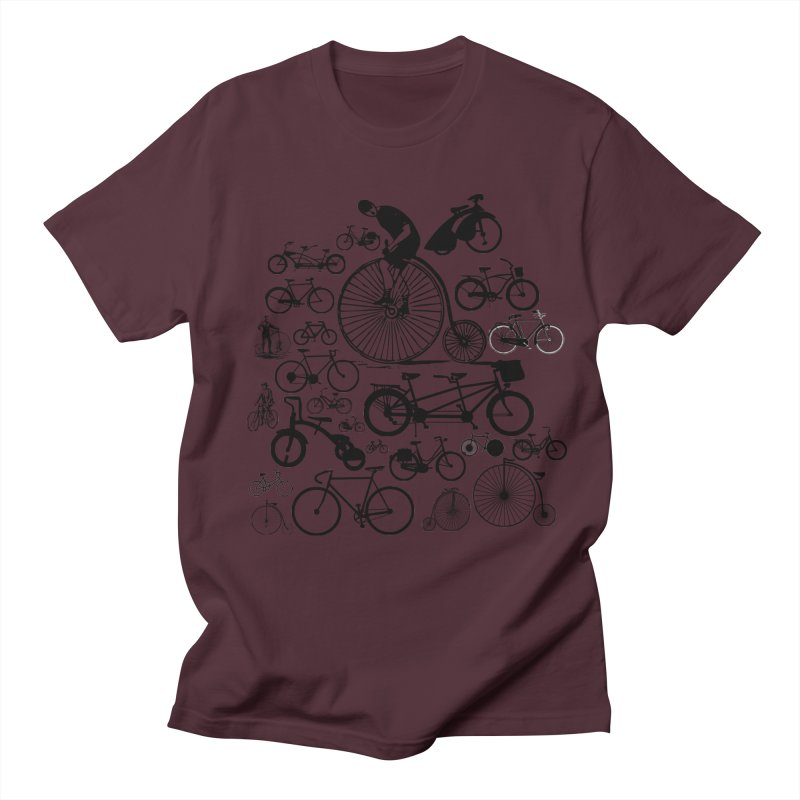 Bicycles Men's Regular T-Shirt by Mrc's Artist Shop