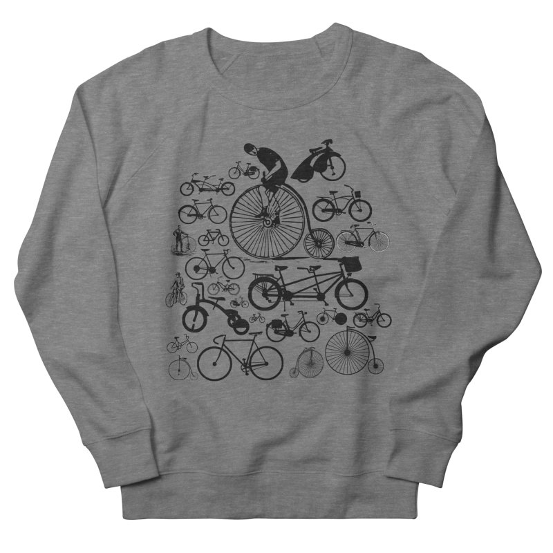 Bicycles Men's French Terry Sweatshirt by Mrc's Artist Shop