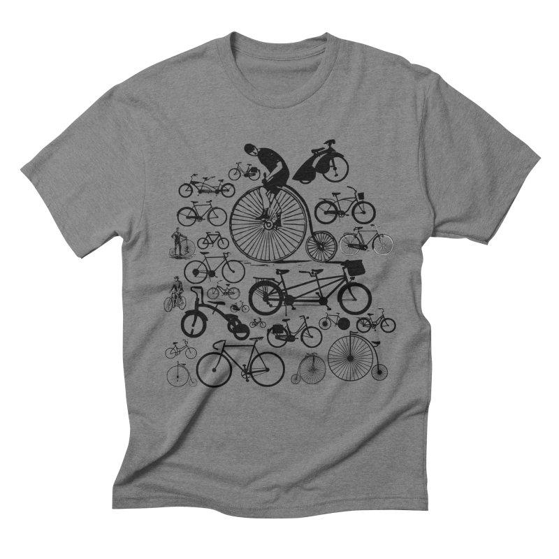 Bicycles Men's Triblend T-Shirt by Mrc's Artist Shop