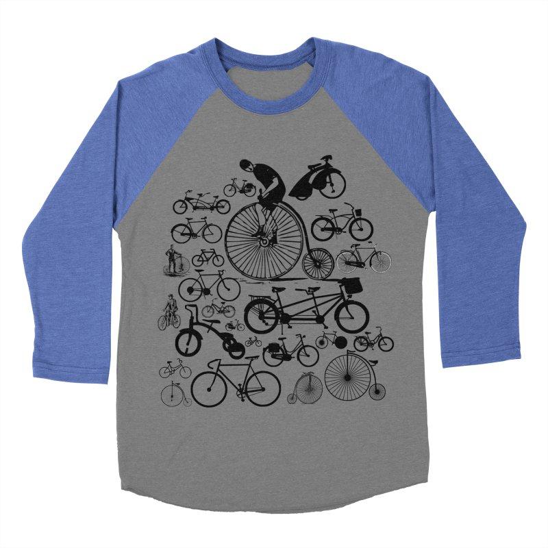 Bicycles Men's Baseball Triblend Longsleeve T-Shirt by Mrc's Artist Shop