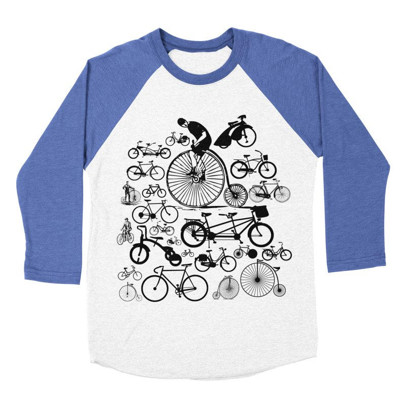 Bicycles Men's Baseball Triblend T-Shirt by Mrc's Artist Shop