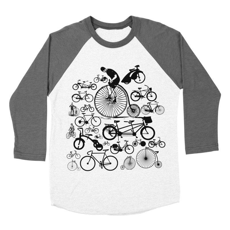 Bicycles Men's Baseball Triblend T-Shirt by Mrc's Artist Shop