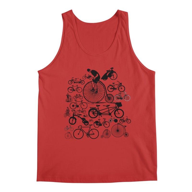 Bicycles Men's Regular Tank by Mrc's Artist Shop