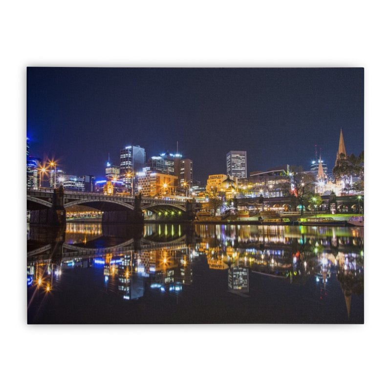 Beautiful Night in the City Home Stretched Canvas by Mrc's Artist Shop