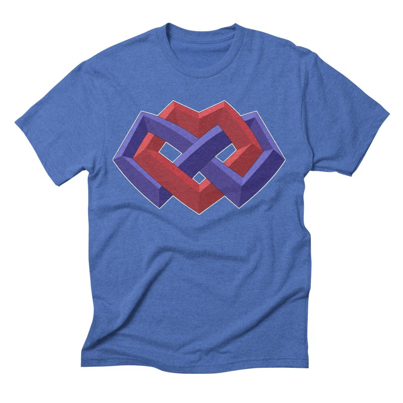 Multiamory Shield Apparel in Men's Triblend T-Shirt Blue Triblend by Multiamory's Shop