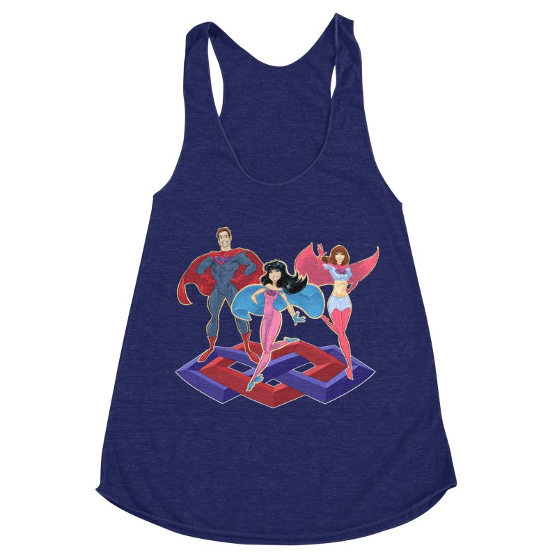 The Super Multis Apparel Women's Racerback Triblend Tank by Multiamory's Shop