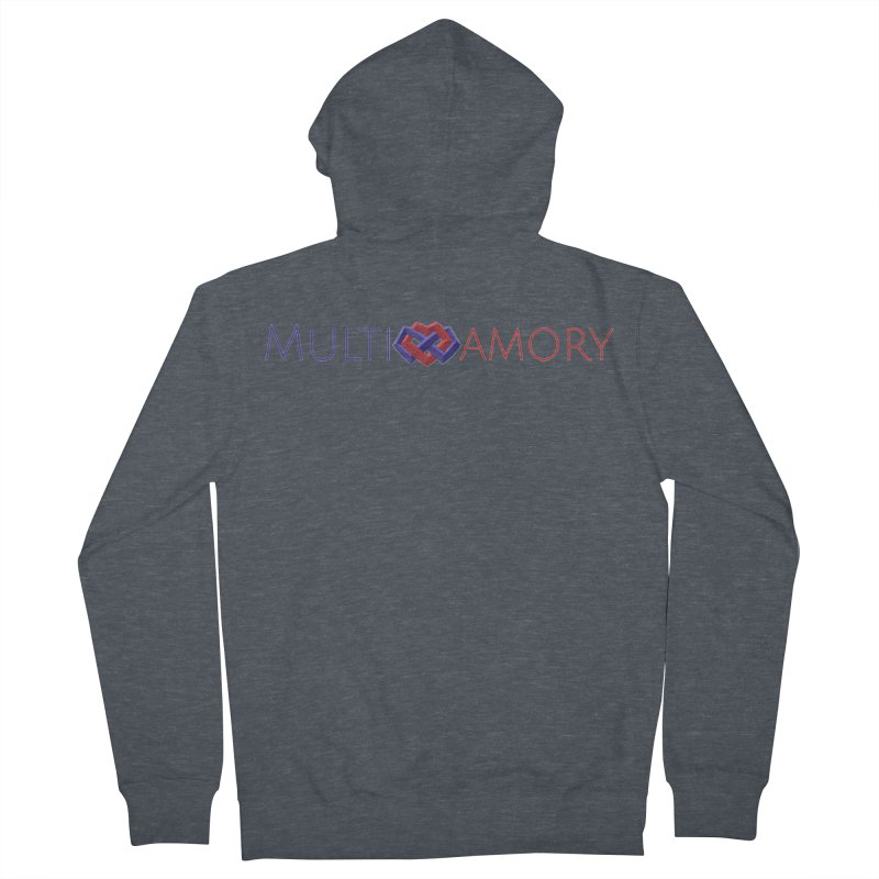 Multiamory Name (Red and Purple) Men's French Terry Zip-Up Hoody by Multiamory's Shop