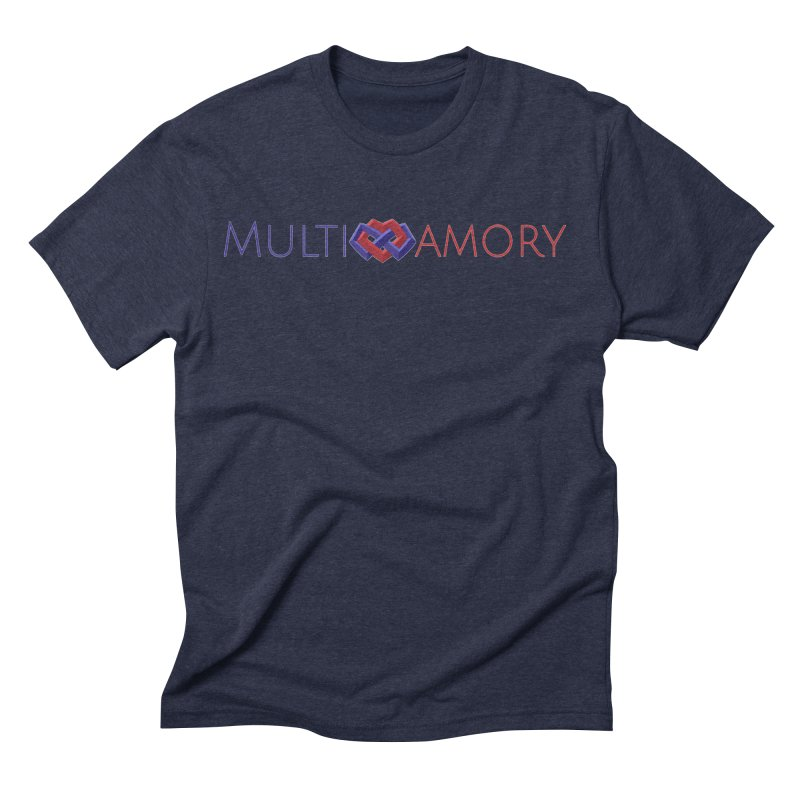 Multiamory Name (Red and Purple) Men's Triblend T-Shirt by Multiamory's Shop