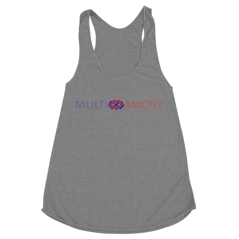 Multiamory Name (Red and Purple) Women's Racerback Triblend Tank by Multiamory's Shop