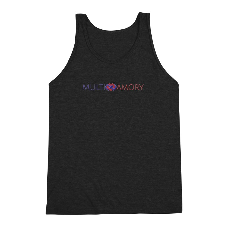 Multiamory Name (Red and Purple) Men's Triblend Tank by Multiamory's Shop