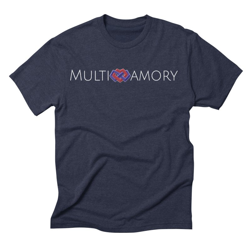 Multiamory Name (White) Men's Triblend T-Shirt by Multiamory's Shop