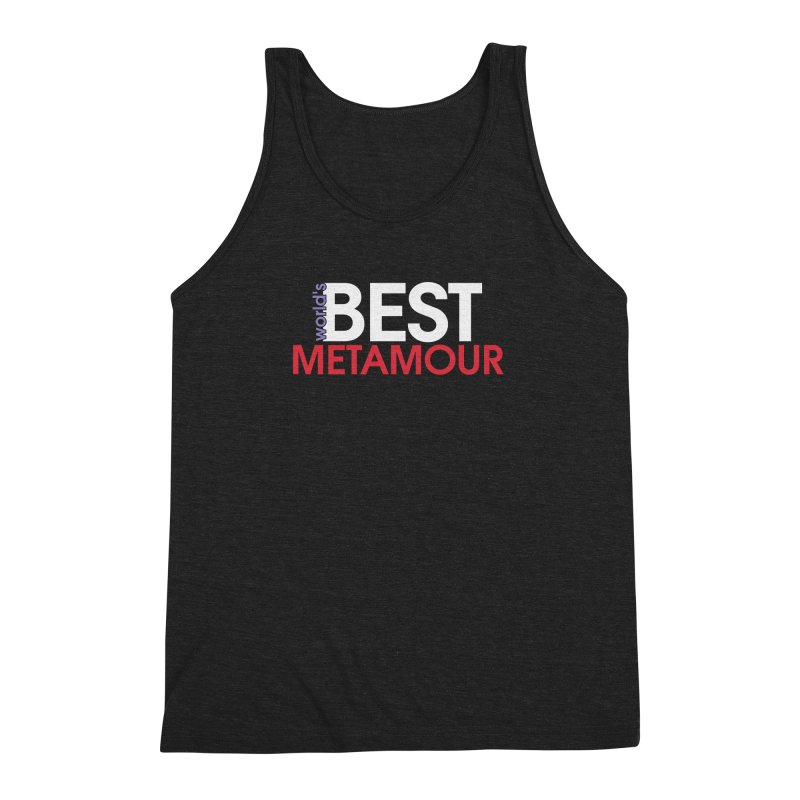 World's Best Metamour - Black Men's Triblend Tank by Multiamory's Shop