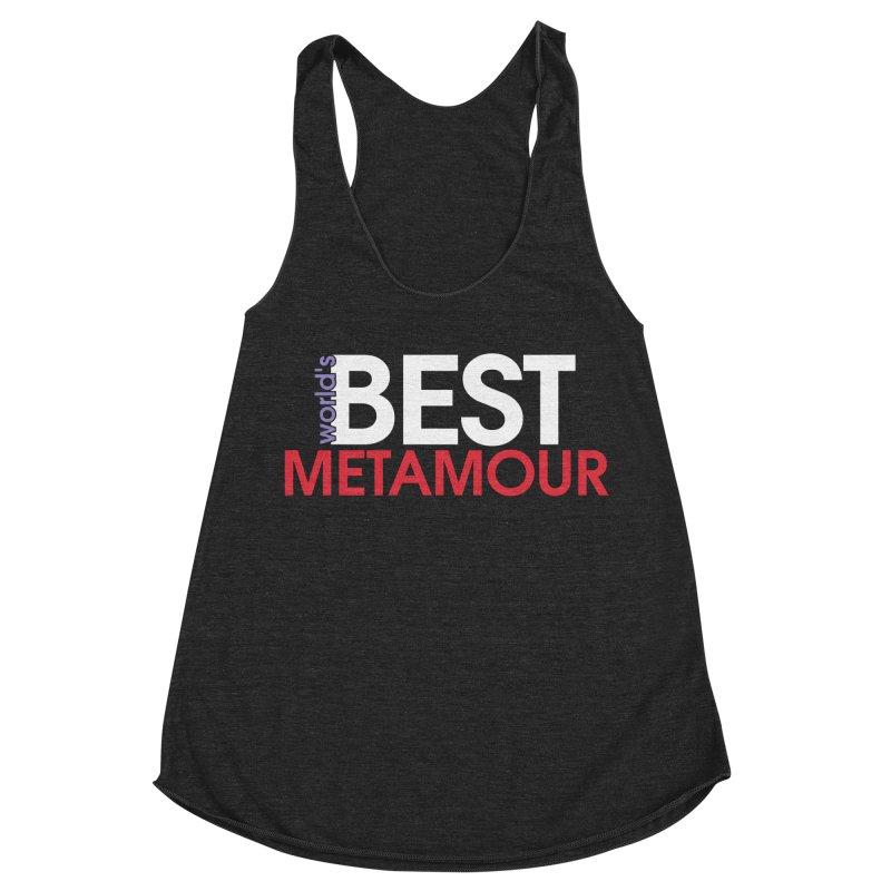 World's Best Metamour - Black Women's Racerback Triblend Tank by Multiamory's Shop