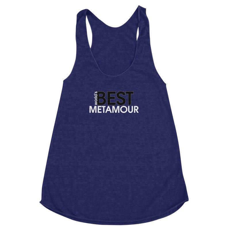 World's Best Metamour - Purple Women's Racerback Triblend Tank by Multiamory's Shop