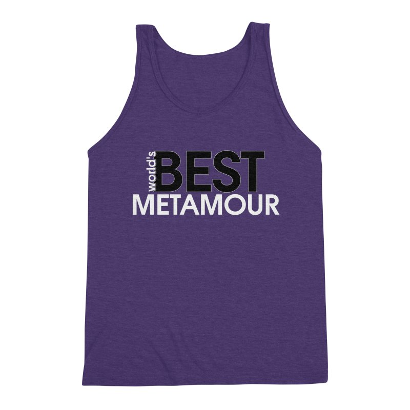 World's Best Metamour - Purple Men's Triblend Tank by Multiamory's Shop