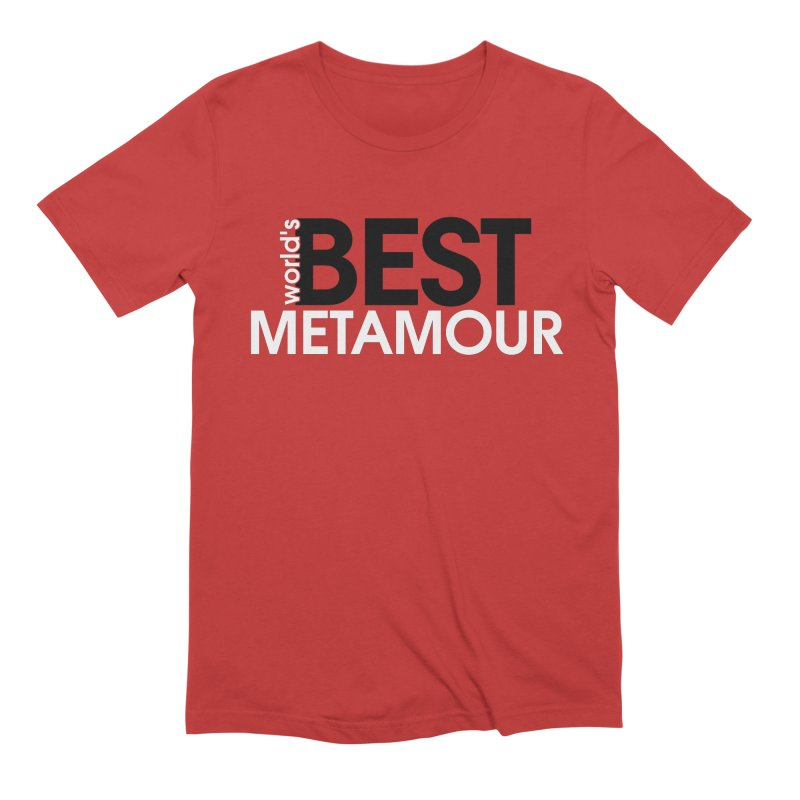 World's Best Metamour - Red in Men's Extra Soft T-Shirt Red by Multiamory's Shop