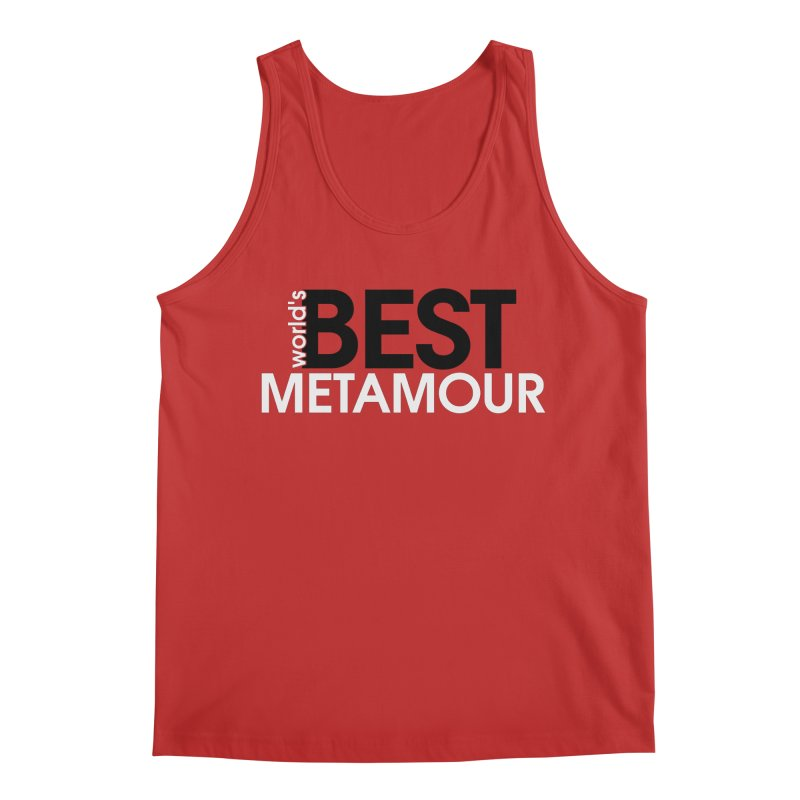 World's Best Metamour - Red in Men's Regular Tank Red by Multiamory's Shop