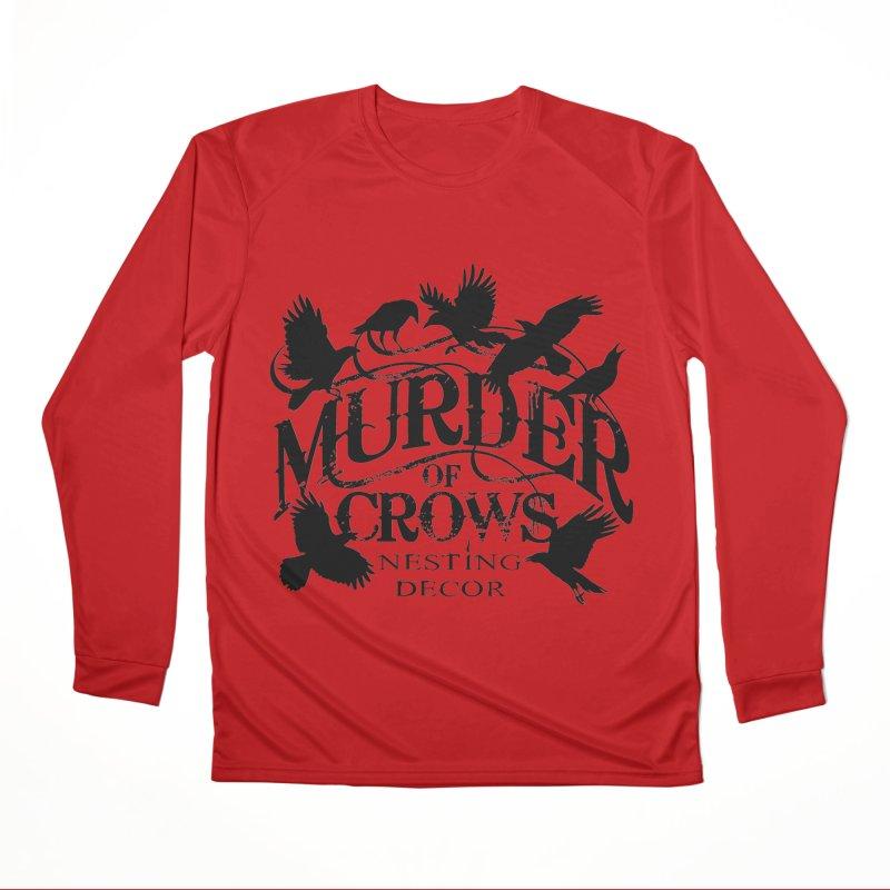Murder of Crows Nesting Decor Logo Men's Longsleeve T-Shirt by Murder of Crows Nesting Decor Artist Shop