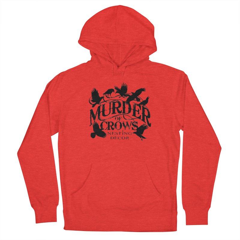 Murder of Crows Nesting Decor Logo Men's Pullover Hoody by Murder of Crows Nesting Decor Artist Shop