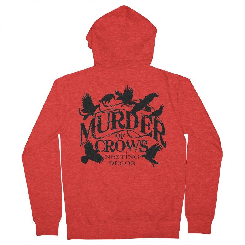 Murder of Crows Nesting Decor Logo Men's Zip-Up Hoody by Murder of Crows Nesting Decor Artist Shop