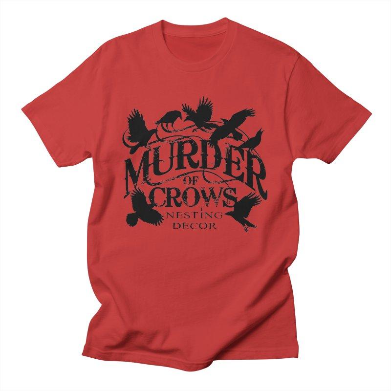 Murder of Crows Nesting Decor Logo Men's T-Shirt by Murder of Crows Nesting Decor Artist Shop