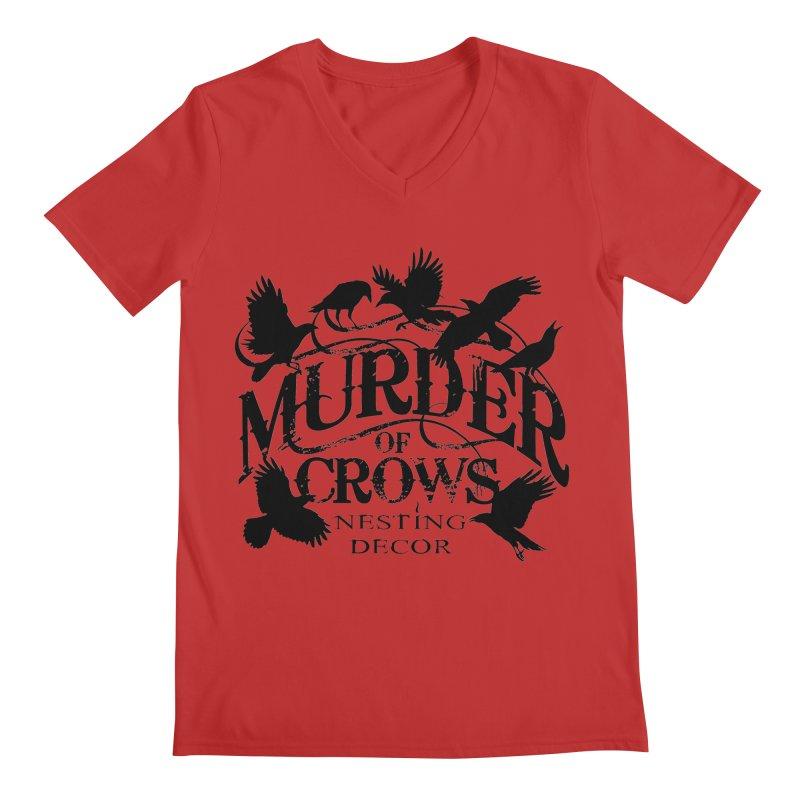 Murder of Crows Nesting Decor Logo Men's V-Neck by Murder of Crows Nesting Decor Artist Shop
