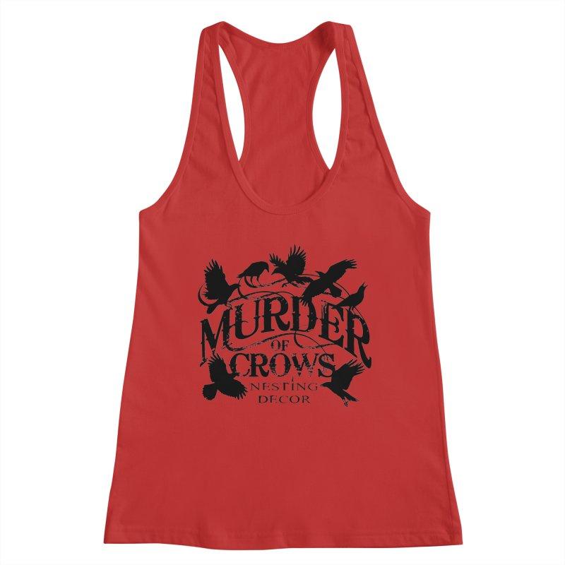 Murder of Crows Nesting Decor Logo Women's Tank by Murder of Crows Nesting Decor Artist Shop