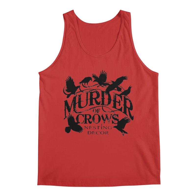 Murder of Crows Nesting Decor Logo Men's Tank by Murder of Crows Nesting Decor Artist Shop