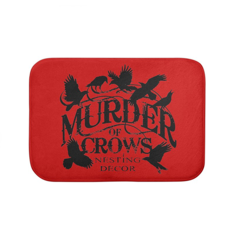 Murder of Crows Nesting Decor Logo Home Bath Mat by Murder of Crows Nesting Decor Artist Shop