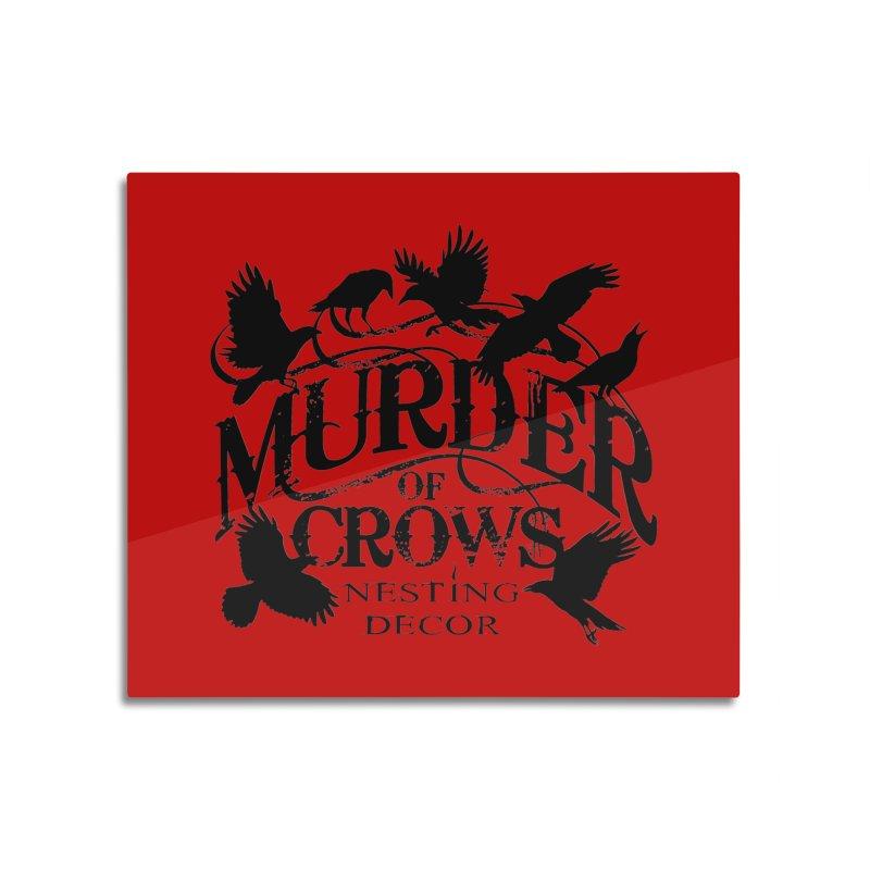Murder of Crows Nesting Decor Logo Home Mounted Acrylic Print by Murder of Crows Nesting Decor Artist Shop