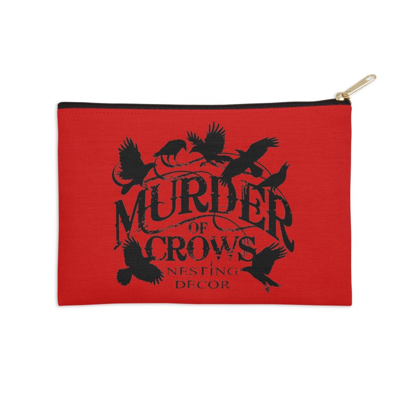 Murder of Crows Nesting Decor Logo Accessories Zip Pouch by Murder of Crows Nesting Decor Artist Shop