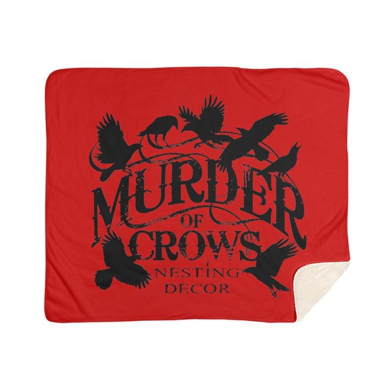 Murder of Crows Nesting Decor Logo Home Blanket by Murder of Crows Nesting Decor Artist Shop