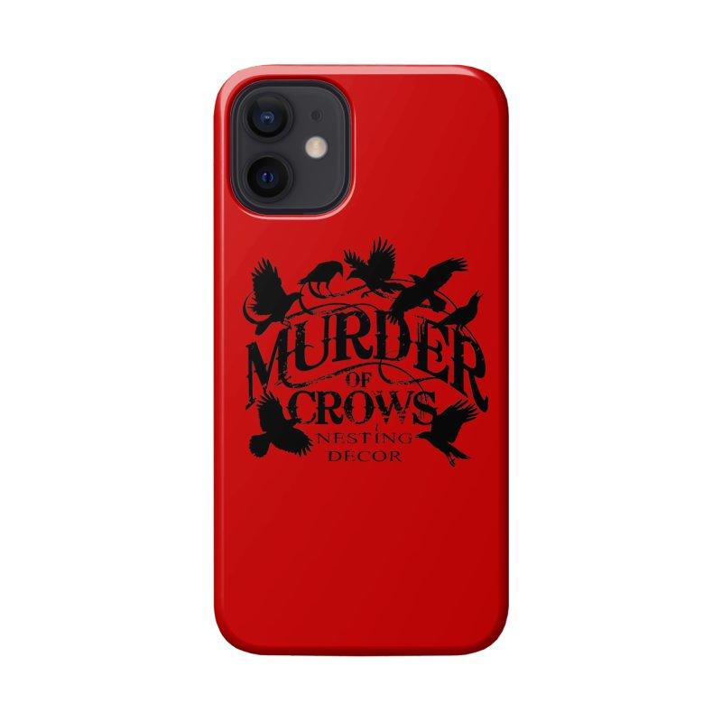 Murder of Crows Nesting Decor Logo Accessories Phone Case by Murder of Crows Nesting Decor Artist Shop