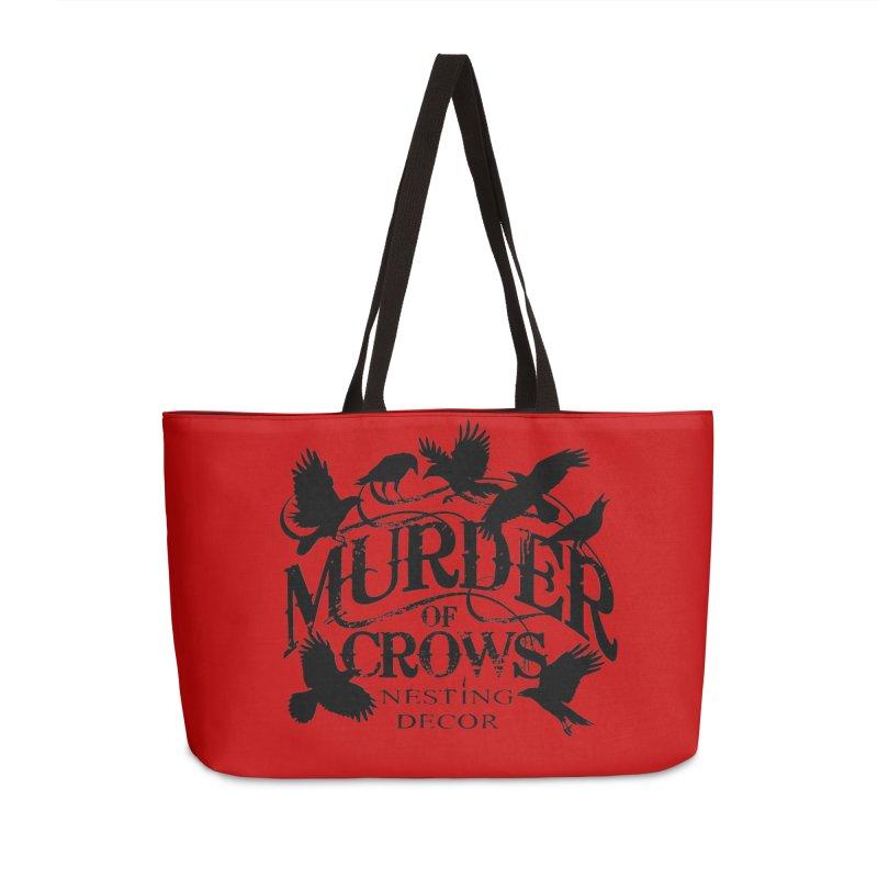 Murder of Crows Nesting Decor Logo Accessories Bag by Murder of Crows Nesting Decor Artist Shop