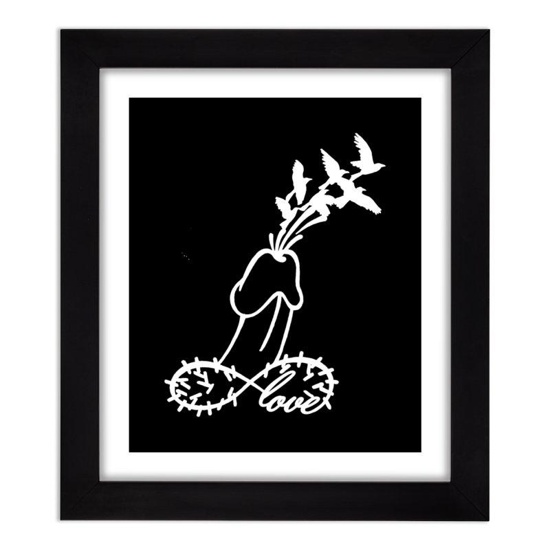 Infinite Murder Love - White Home Framed Fine Art Print by Murder of Crows Nesting Decor Artist Shop