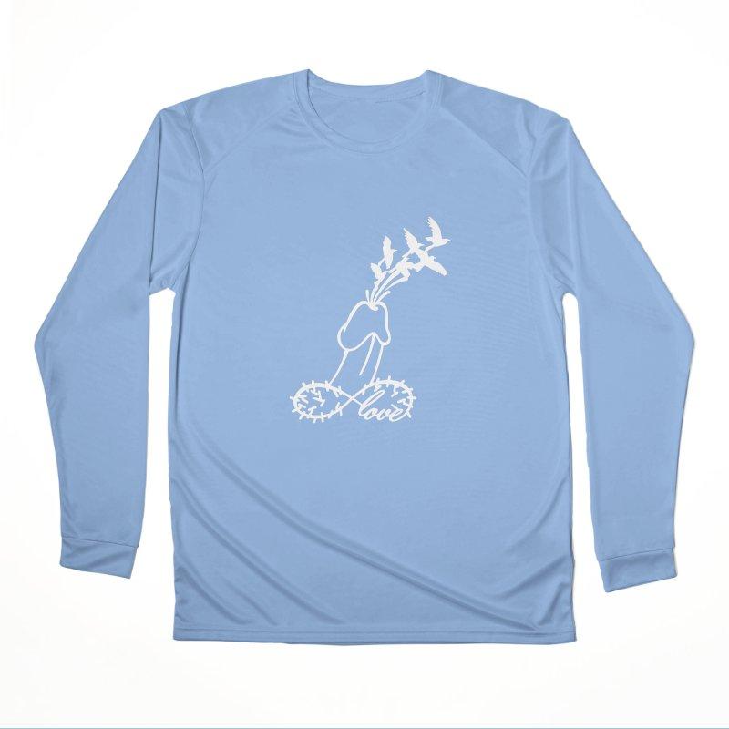 Infinite Murder Love - White Men's Longsleeve T-Shirt by Murder of Crows Nesting Decor Artist Shop