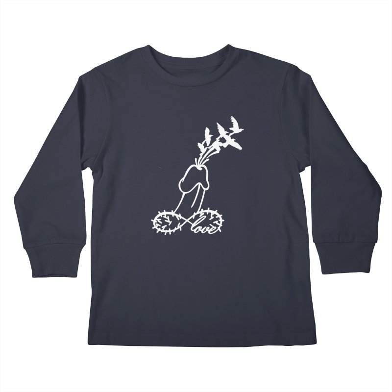 Infinite Murder Love - White Kids Longsleeve T-Shirt by Murder of Crows Nesting Decor Artist Shop