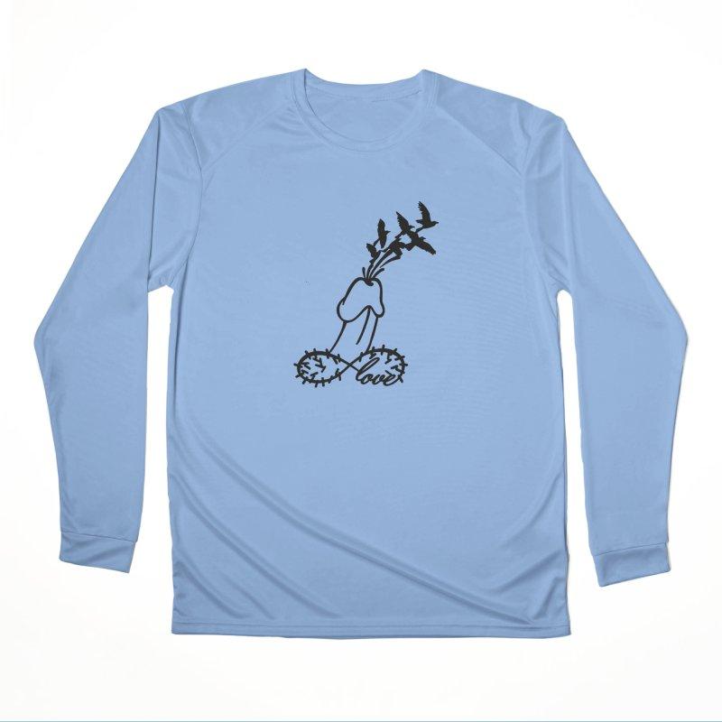 InfiniteMurderLove-Black Men's Longsleeve T-Shirt by Murder of Crows Nesting Decor Artist Shop