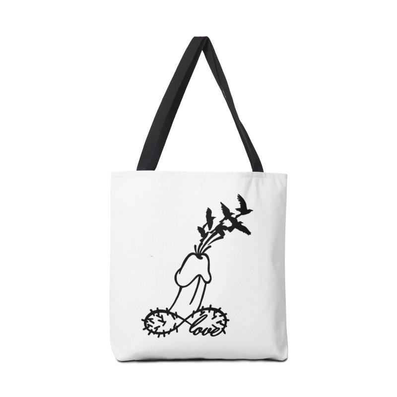 InfiniteMurderLove-Black Accessories Bag by Murder of Crows Nesting Decor Artist Shop