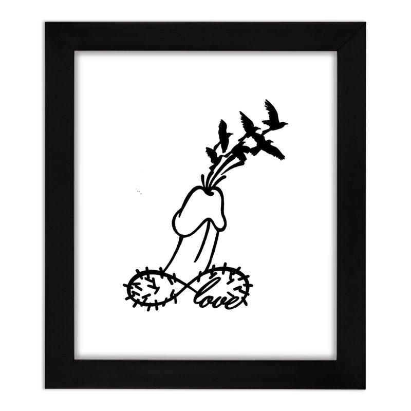 InfiniteMurderLove-Black Home Framed Fine Art Print by Murder of Crows Nesting Decor Artist Shop