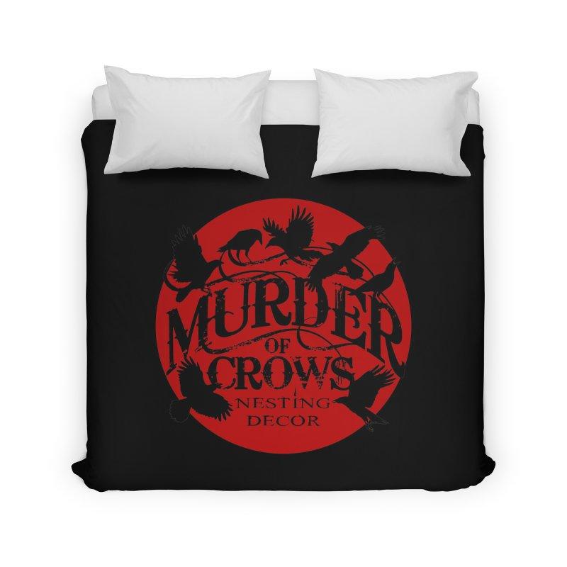 Murder Of Crows Nesting Decor full logo Home Duvet by Murder of Crows Nesting Decor Artist Shop