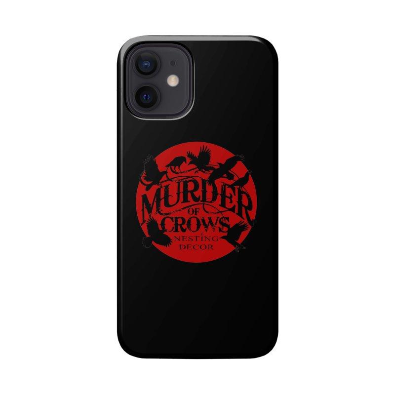 Murder Of Crows Nesting Decor full logo Accessories Phone Case by Murder of Crows Nesting Decor Artist Shop