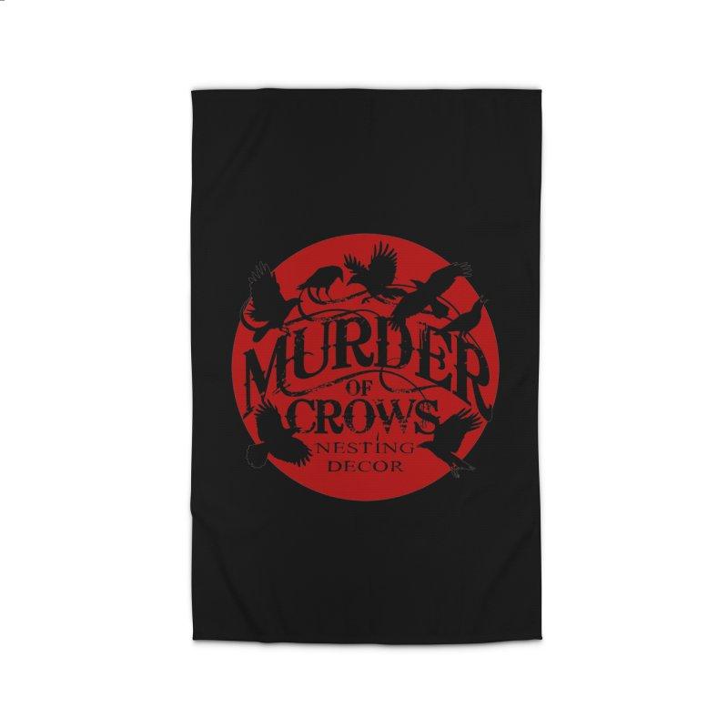 Murder Of Crows Nesting Decor full logo Home Rug by Murder of Crows Nesting Decor Artist Shop