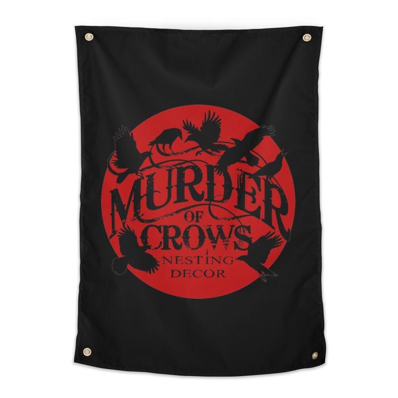 Murder Of Crows Nesting Decor full logo Home Tapestry by Murder of Crows Nesting Decor Artist Shop