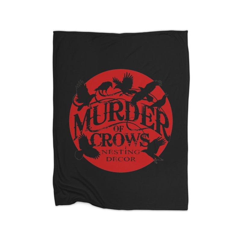 Murder Of Crows Nesting Decor full logo Home Blanket by Murder of Crows Nesting Decor Artist Shop