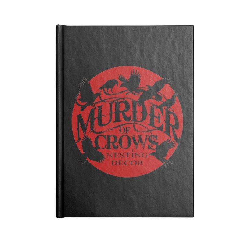 Murder Of Crows Nesting Decor full logo Accessories Notebook by Murder of Crows Nesting Decor Artist Shop
